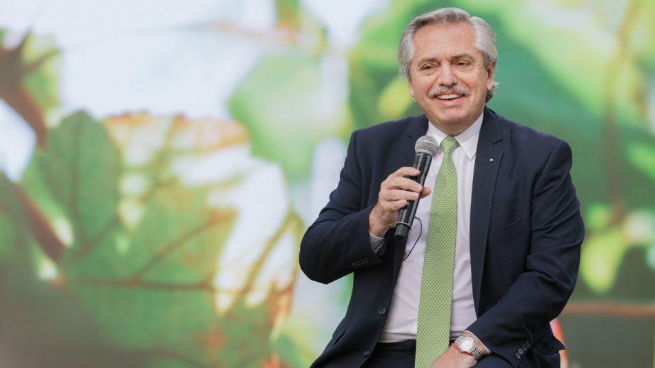 El presidente Alberto Fernández, en una foto de archivo de un acto en Olivos en junio de este año.