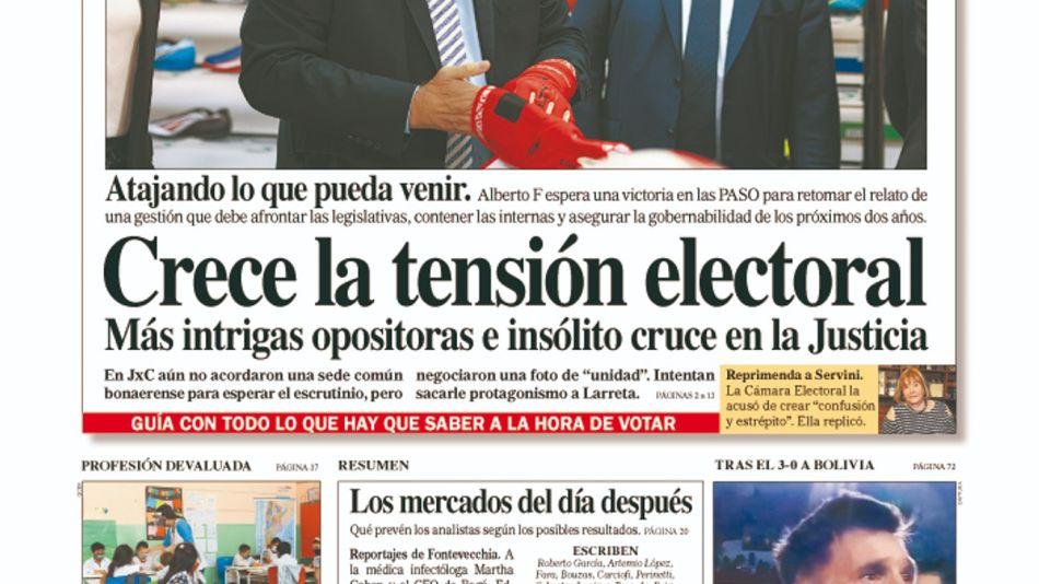 La tapa del Diario PERFIL del sábado 11 de septiembre de 2021.