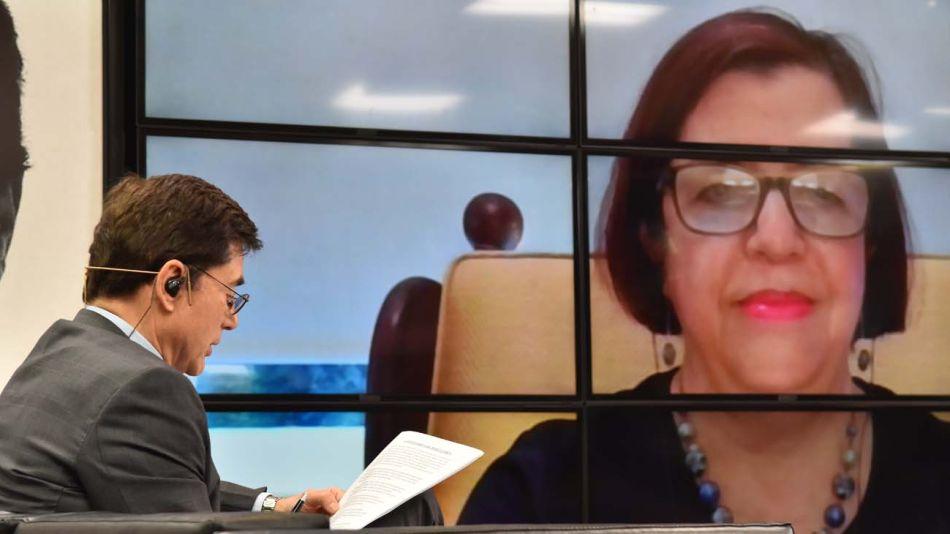 Marta Cohen, en la entrevista con Jorge Fontevecchia.
