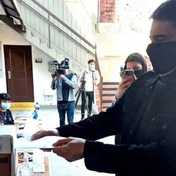 Jorge Macri votando hoy.    Foto:Twitter