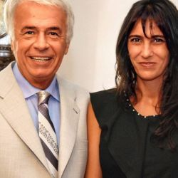 Natalia de la Sota y su padre   Foto:cedoc