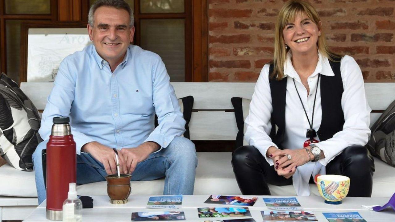 Agustín Rossi y Alejandra Rodenas.  | Foto:Twitter