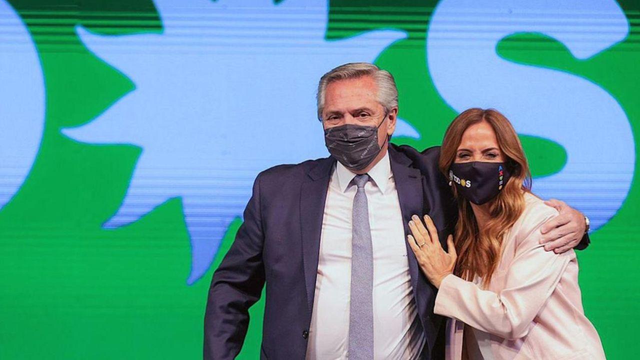Alberto Fernández y Victoria Tolosa Paz.    Foto:CEDOC