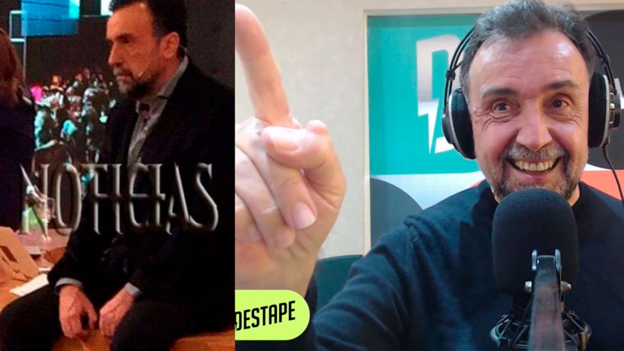 Roberto Navarro en las elecciones 2017 y hoy (2021)   Foto:cedoc
