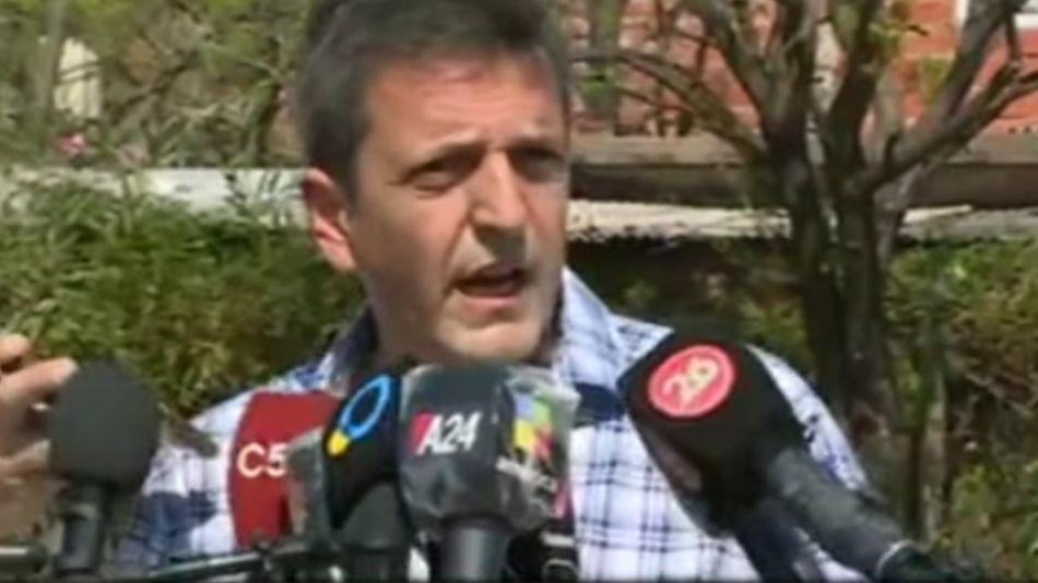 Sergio Massa votó en la localidad bonaerense de Tigre