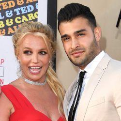 Britney Spears y su novio desde 2016, y futuro marido, Sam Asghari.