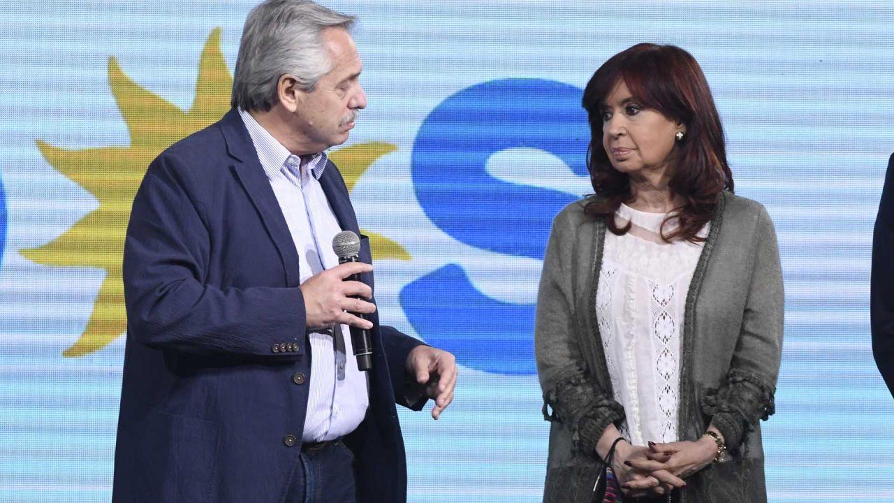 Alberto Fernández y Cristina Kirchner.   Foto:José Brusco.