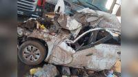Accidente de tránsito por tormenta de viento y tierra en la Ruta 19 en Córdoba 20210914
