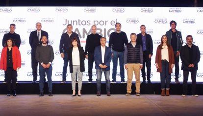 Los principales líderes de JxC se mostraron juntos la noche de las PASO.