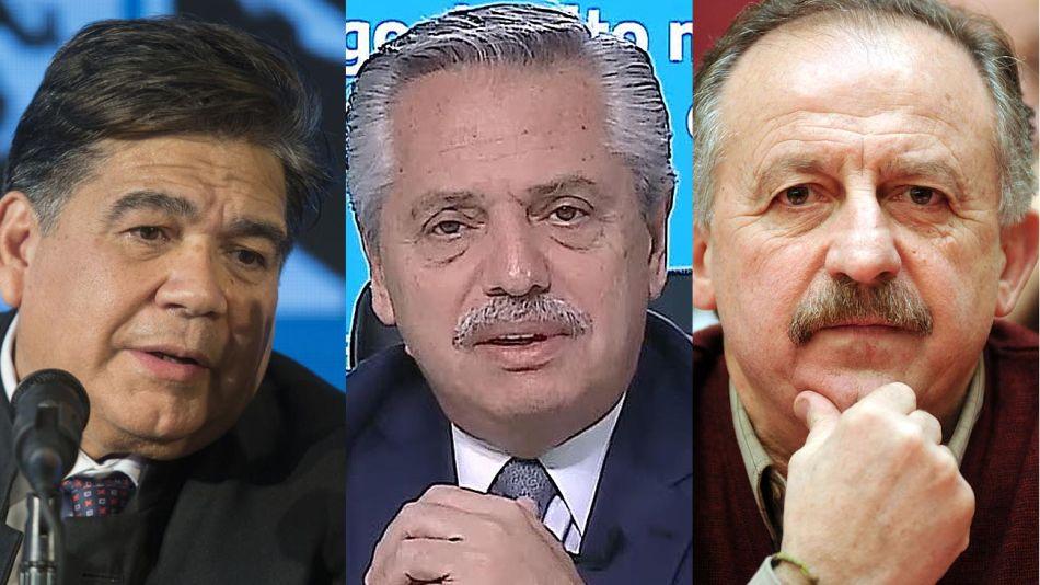 Mario Ishi, Alberto Fernández y Hugo Yaski 20210914