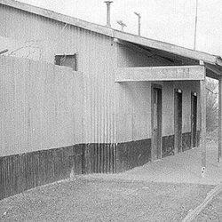 La vieja estación de tren de Rawson.