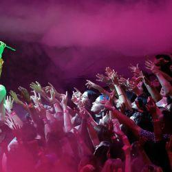 Shawn Mendes actúa en el escenario durante los MTV Video Music Awards 2021 en el Barclays Center, en el barrio de Brooklyn de la ciudad de Nueva York.   Foto:Michael Loccisano / Getty Images / AFP