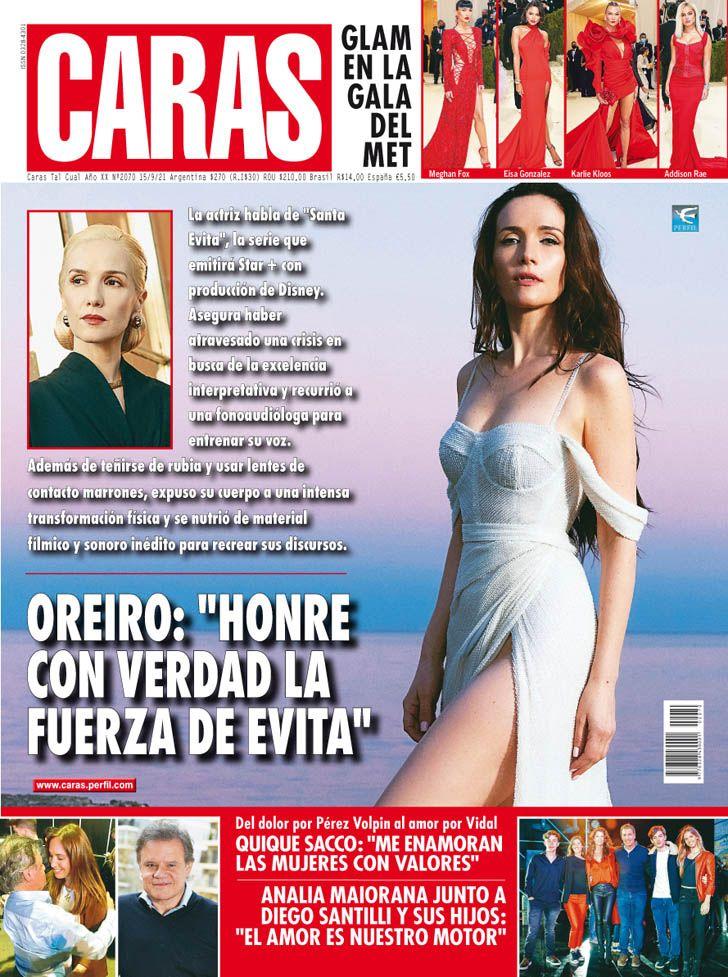"Natalia Oreiro: ""Honre con verdad la fuerza de Evita"""