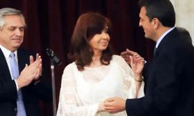 Cristina Kirchner, Sergio Massa y Alberto Fernández 202100915