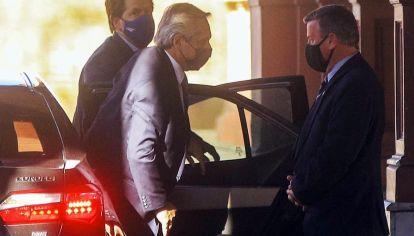 la llegada de Alberto Fernández esta tarde a Casa Rosada