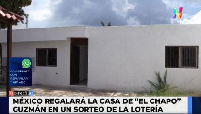 Sortean la casa del líder narco Chapo Guzmán en una lotería nacional
