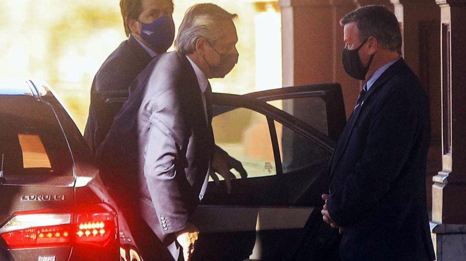la llegada de Alberto Fernández esta tarde a Casa Rosada 20210915