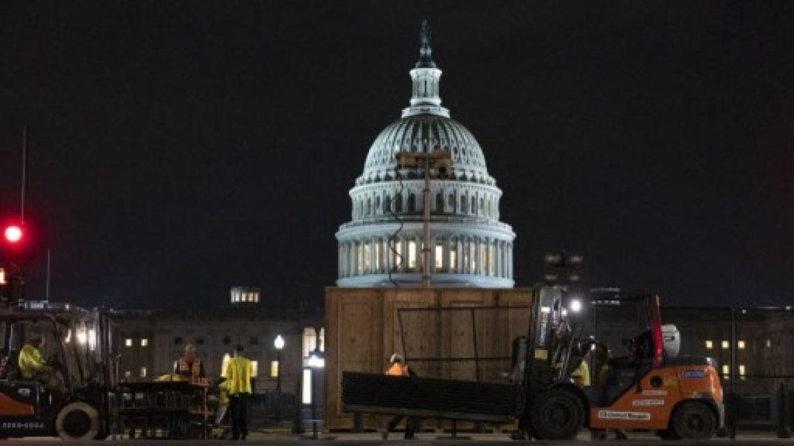 Estados Unidos vs. Estados Unidos: amurallan el Capitolio para reforzar la seguridad