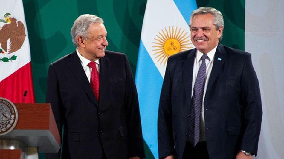 Alberto con el presidente de Mexico López Obrador 20210916