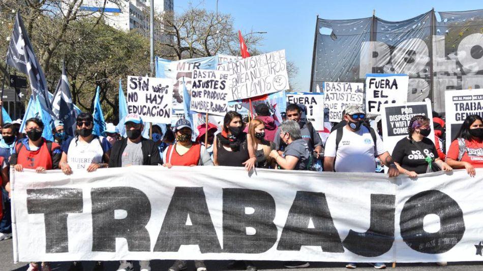 Marcha de Organizaciones sociales por el centro porteño 20210916