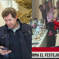 Alberto Fernández con Juan Pablo Biondi - Guadalupe Vázquez y la foto del cumpleaños de Fabiola Yáñez | Foto:cedoc