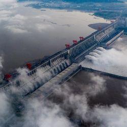 Vista aérea del paisaje de la Reserva de las Tres Gargantas, en el distrito de Zigui de la ciudad de Yichang, en la provincia de Hubei, en el centro de China.   Foto:Xinhua / Zheng Jiayu