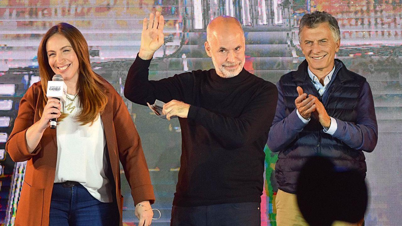 María Eugenia Vidal, Horacio Rodríguez Larreta y Mauricio Macri | Foto:Pablo Cuarterolo.