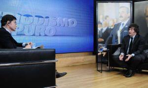 Javier Milei, en la entrevista con Jorge Fontevecchia.