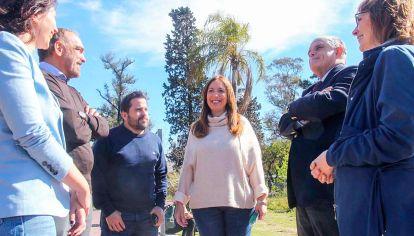 Candidatos. Vidal, junto a Tetaz, Iglesias y Ajmechet, junto a sus socios López Murphy y Pitta.