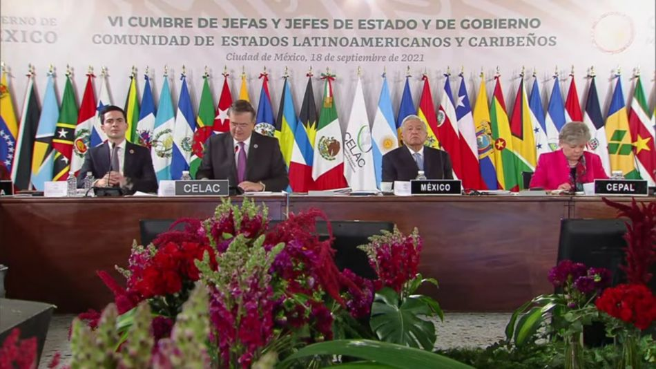 Cumbre de la CELAC 2021 en ciudad de México