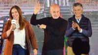 María Eugenia Vidal, Horacio Rodríguez Larreta y Mauricio Macri