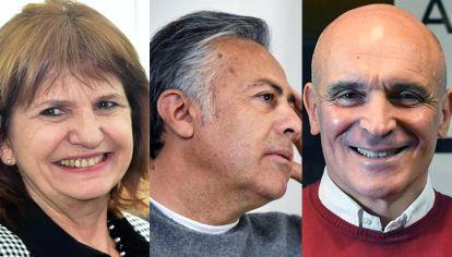 Patricia Bullrich, Alfredo Cornejo y José Luis Espert.