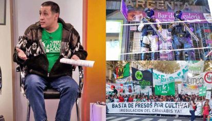 Justicia. Daniel Landgren (izq.) siempre luchó por la legalización del autocultivo. En julio de 2017, la policía de Córdoba allanó su local como si fuera un narco.