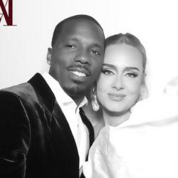 Adele con un vestido Schiaparelli hizo oficial su nueva relación