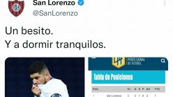 tweet de San Lorenzo