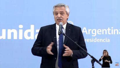 Alberto Fernández, presidente de la Nación, en la jura de los nuevos ministros el 20 de septiembre.