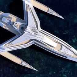 """Este particular superyate de 142 metros de largo tiene un diseño conocido como """"triple hilera"""", en referencia a la particular fisonomía del casco."""