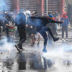 Manifestaciones en el aniversario del golpe a Allende terminaron en disturbios | Foto:cedoc