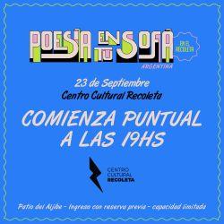 Poesía en tu Sofá, el próximo jueves en El Recoleta.
