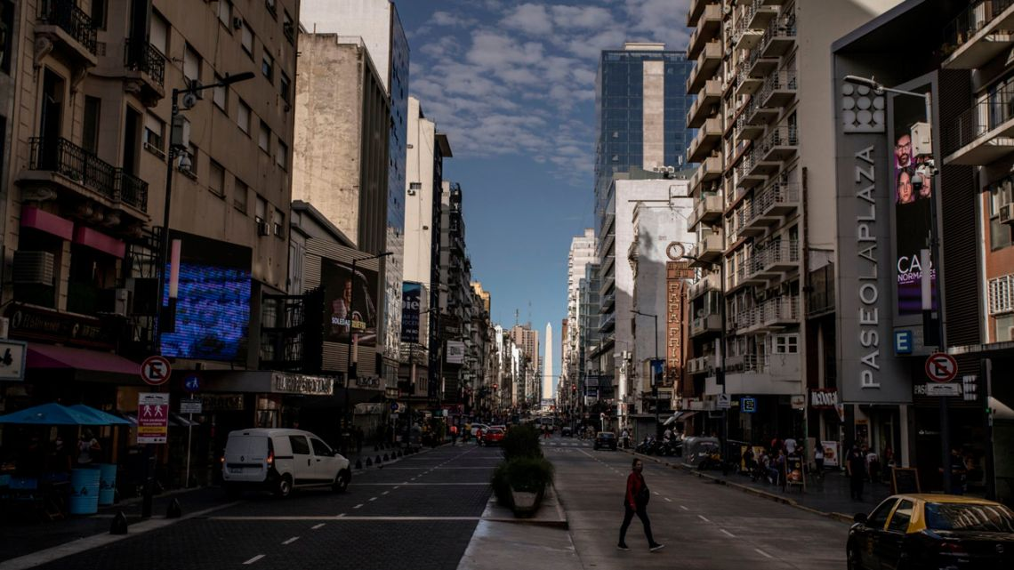 A street in Buenos Aires City, Argentina.