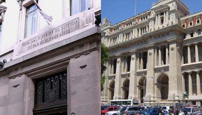 Palacio de Tribunales y la sede del TSJ de Capital.