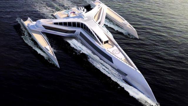 Estrella Superyacht, una embarcación futurista inspirada en Star Wars