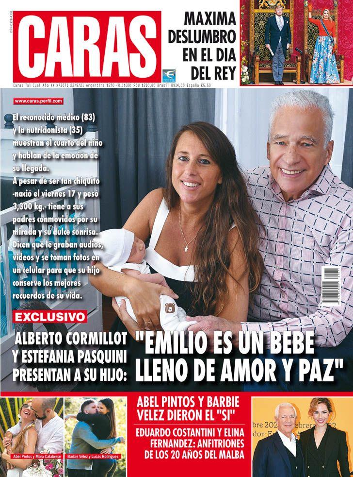 """Alberto Cormillot y Estefanía Pasquini presenta a su hijo: """"Emilio es un bebé lleno de amor y paz"""""""