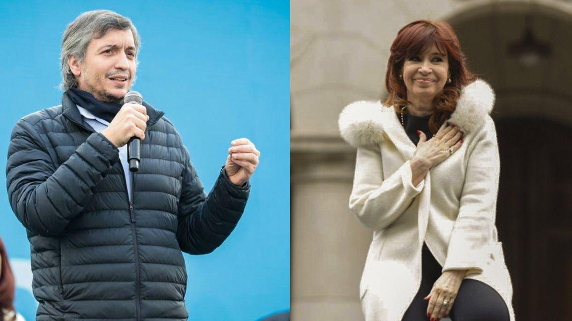 Máximo Kirchner and Cristina Fernández de Kirchner.