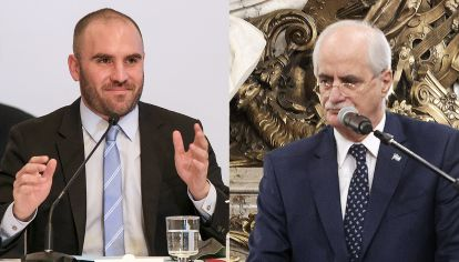 Los ministros Martín Guzmán y Jorge Tahiana