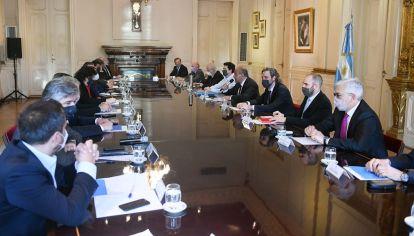 Reunión de Gabinete en Casa Rosada encabezada por Juan Manzur