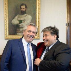 Alberto Fernández y Mario Ishii