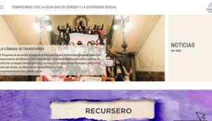 El nuevo portal con información legislativa de género de la Cámara de Diputados.