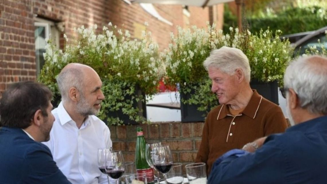 Horacio Rodríguez Larreta lunched with former US president Bill Clinton during his brief US tour.