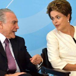En América latina hubo varios enfrentamientos en la fórmula presidencial. Dilma Rousseff y Michel Temer, de Brasil.  | Foto:cedoc